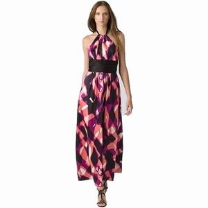 Trina Turk Loni Silk Halter Maxi Dress 2